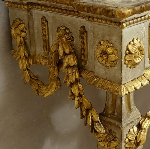 Small neoclassical console table - Piedmont 18th century - Louis XVI
