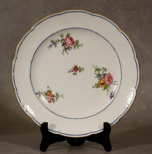 "Four ""wicker"" plates - Sèvres 18th century - Porcelain & Faience Style"