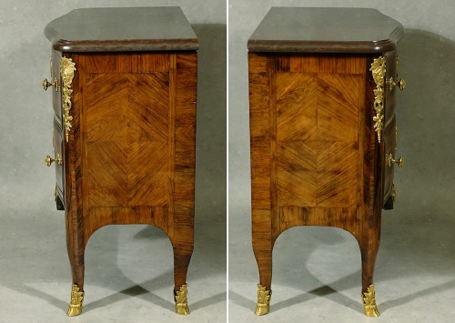 French Regence - Commode Régence with Indians and Chimeras by Doirat