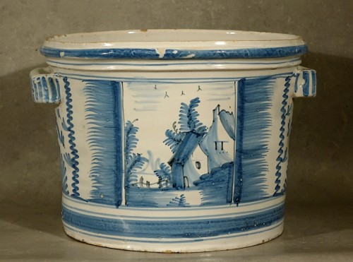Porcelain & Faience  - Orange tree planter - Nevers early 18th century