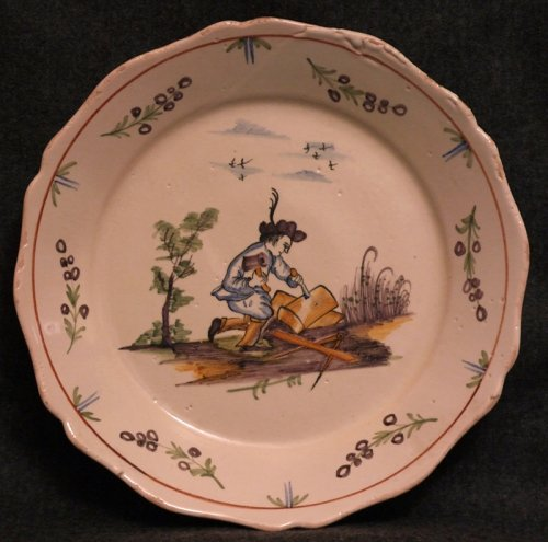 A 18th c. corporative plate in faïence of Nevers