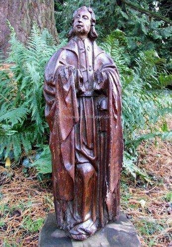 Statue carved oak - François de Salignac de la Mothe-Fénelon