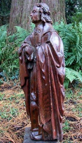 Statue carved oak - François de Salignac de la Mothe-Fénelon -