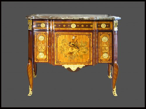 Commode d'époque Transition estampillée F. BAYER