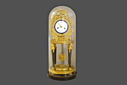 Ormolu mounted clock