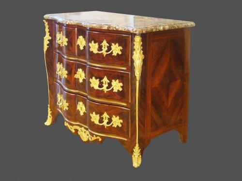18th century marquetry commode - Furniture Style French Regence