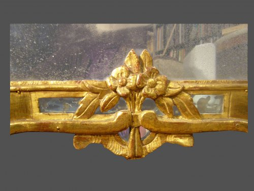 Giltwood mirror, 18th century period -