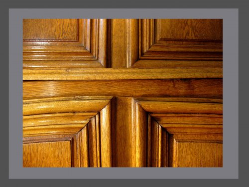 Buffet in two parts in solid oak xviiith century - French Regence