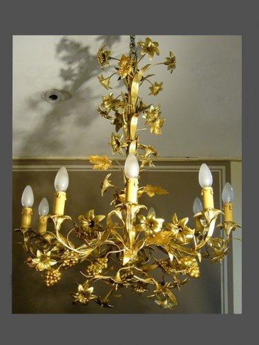 A mid 19th c. Brass Chandelier