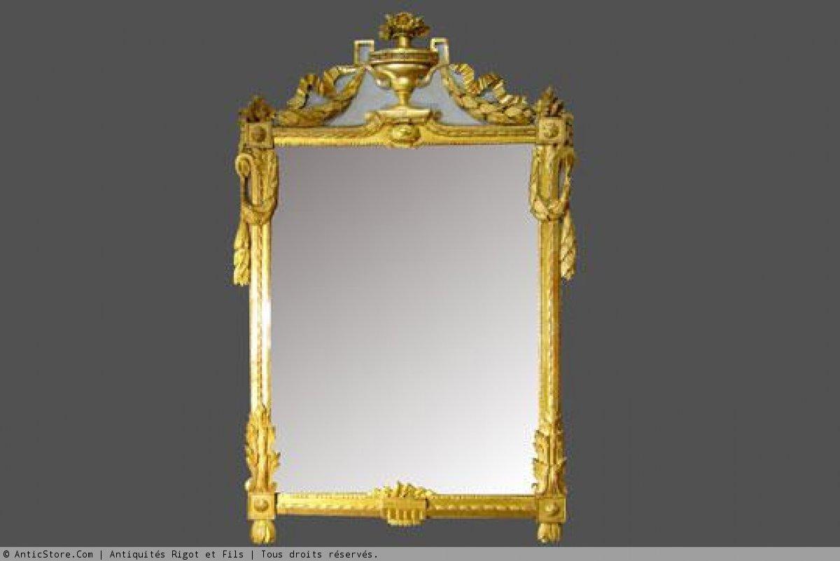 Miroir proven al louis xvi xviiie si cle for Miroir louis 16