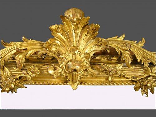 19th century period mirror - Mirrors, Trumeau Style Napoléon III
