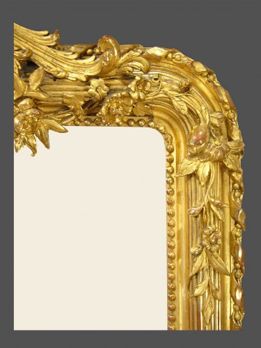 Mirrors, Trumeau  - 19th century period mirror