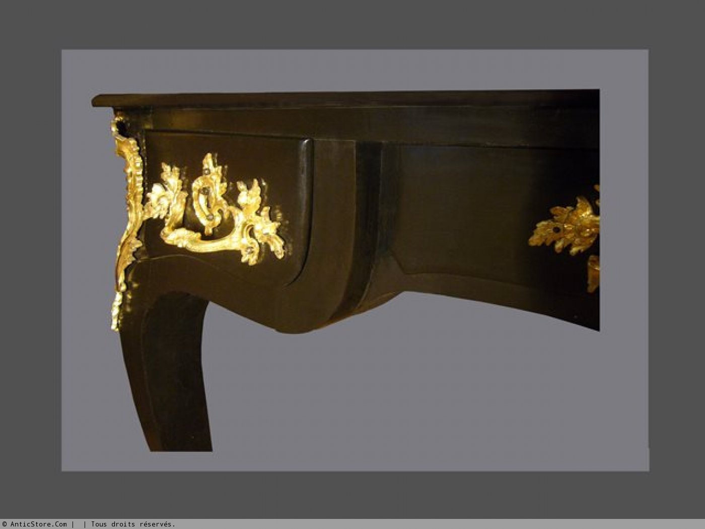 Laquered bureau plat th century ref