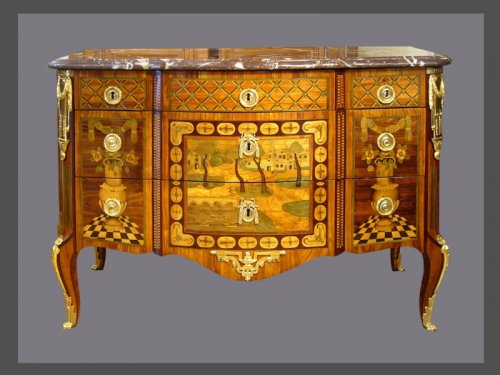 Commode d'époque Transition estampillée J. BIRCKLE