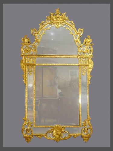 A french Regence giltwood mirror