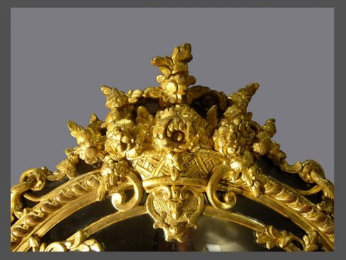 A french Regence giltwood mirror - Mirrors, Trumeau Style French Regence