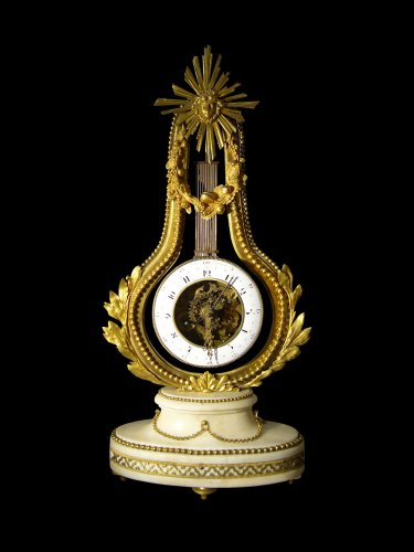 Louis XVI lyre clock