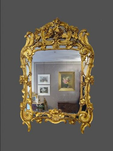 Provence giltwood mirror 18th century