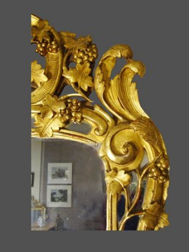 Provence giltwood mirror 18th century - Mirrors, Trumeau Style Louis XV