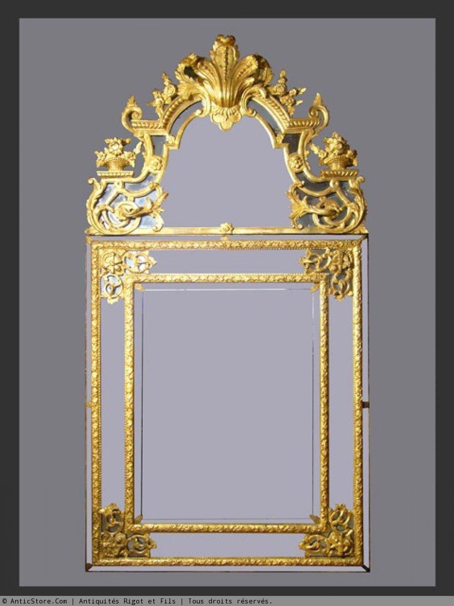 R gence period mirror for Miroir encadrement metal