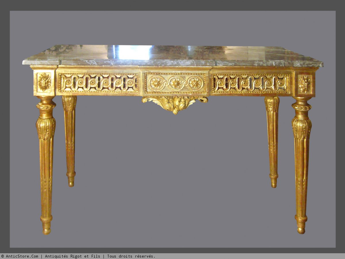 A Louis XVI giltwood console - Ref.32016