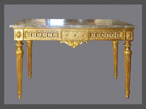 A Louis XVI giltwood console