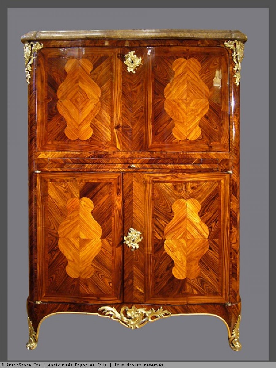 a louis xv secretaire said en armoire attibuted to pierre ii migeon. Black Bedroom Furniture Sets. Home Design Ideas