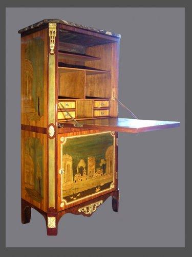 A Louis XVI secretaire stamped GILBERT - Furniture Style Louis XVI