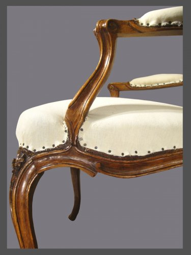 A pair of Louis XV violin-shaped Armchairs - Louis XV