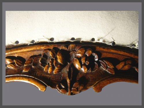 Louis XV - A pair of Louis XV violin-shaped Armchairs