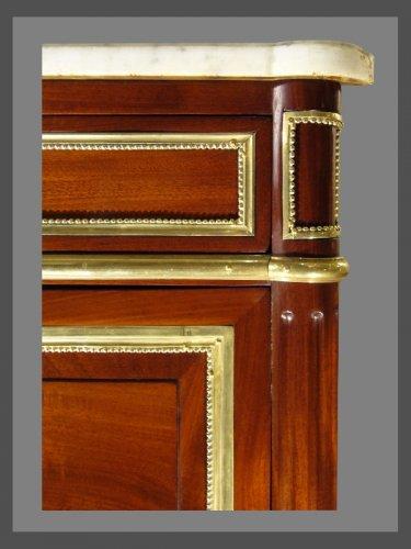 Furniture  - A Louis XVI ormolu-mounted mahogany commode
