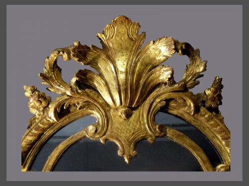 A Louis XIV carved pierced and giltwood Mirror - Louis XIV