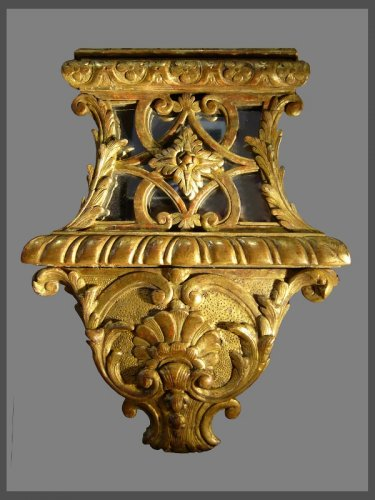 Antiquités - A Louis XIV carved pierced and giltwood Mirror