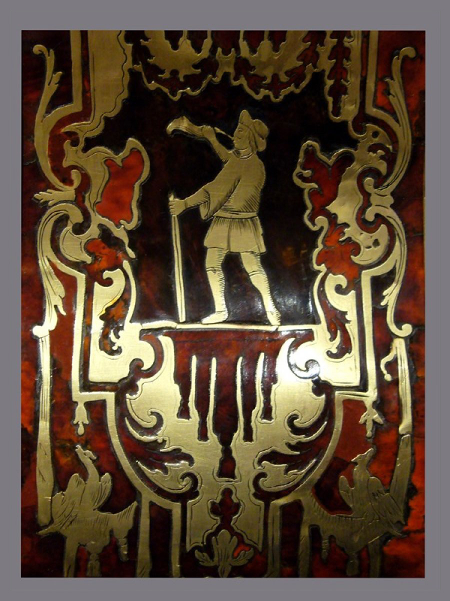 Louis XIV gilt-bronze mantel clock signed Le Noir à Paris - Ref.51393