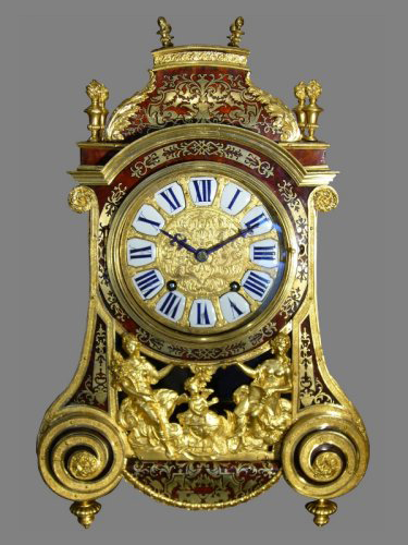 Louis XIV gilt-bronze mantel clock signed  Le Noir à Paris