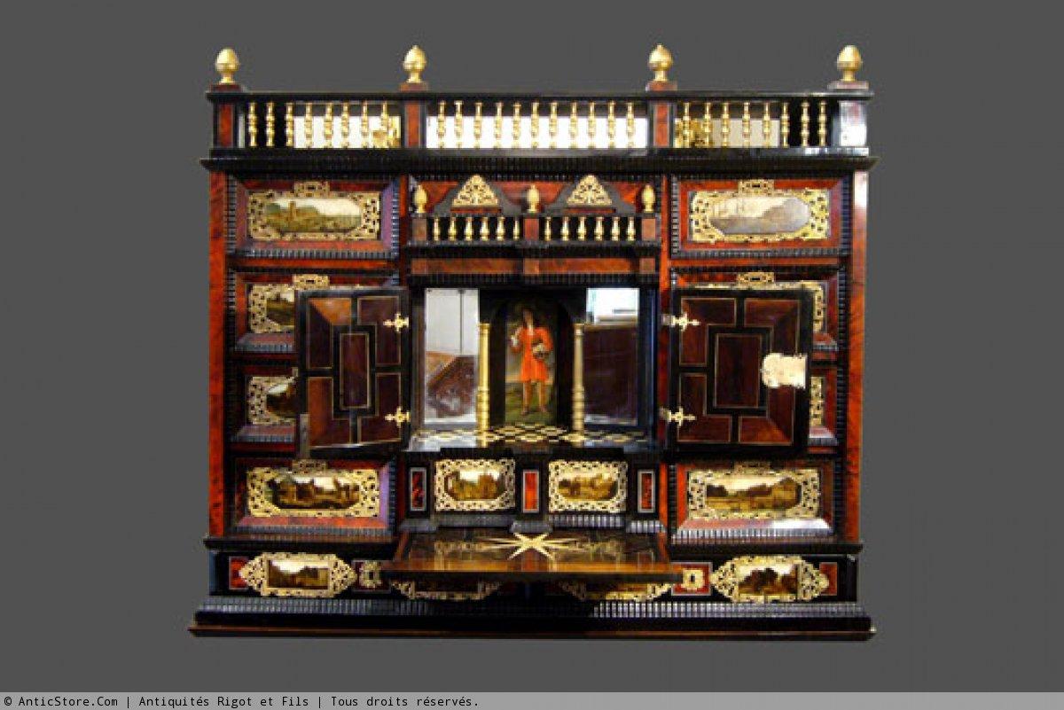 Cabinet travail du xviie si cle - Meuble cabinet de curiosite ...