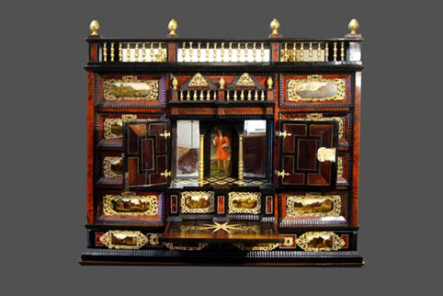 Cabinet, Work of the 17th century - Furniture Style Louis XIII