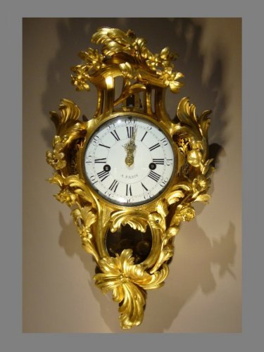 Ormolu-mounted Cartel Clock, Louis XV
