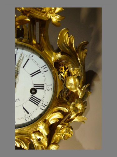 18th century - Ormolu-mounted Cartel Clock, Louis XV
