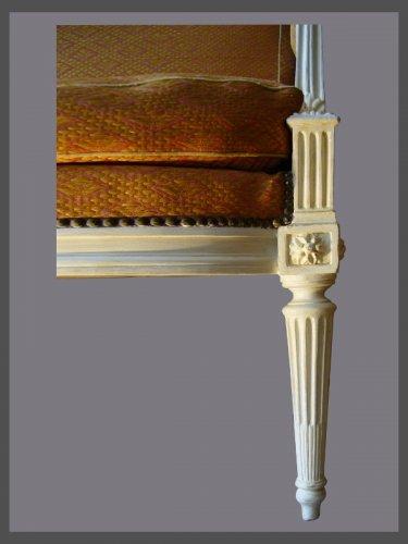"Seating  - Louis XVI ""a la Reine"" Armchairs, signed Dupain"