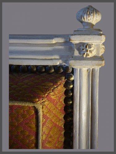 """18th century - Louis XVI """"a la Reine"""" Armchairs, signed Dupain"""