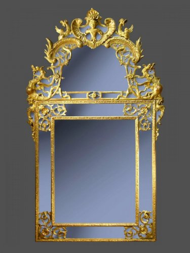 Régence Period Giltwood Mirror