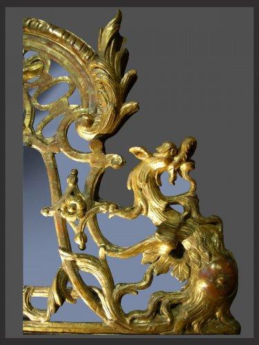 18th century - Régence Period Giltwood Mirror