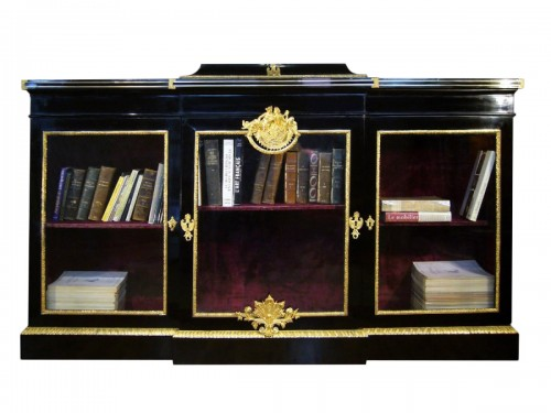 French Louis XIV Ebonised Bookcase