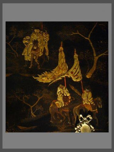A Louis XV Chinese lacquer Secretaire - Louis XV