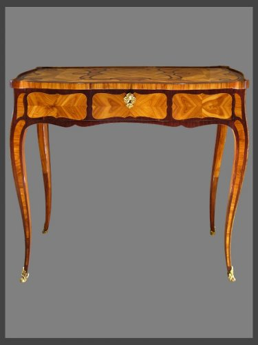 Table à transformations d'époque Louis XV estampillée Pierre ROUSSEL