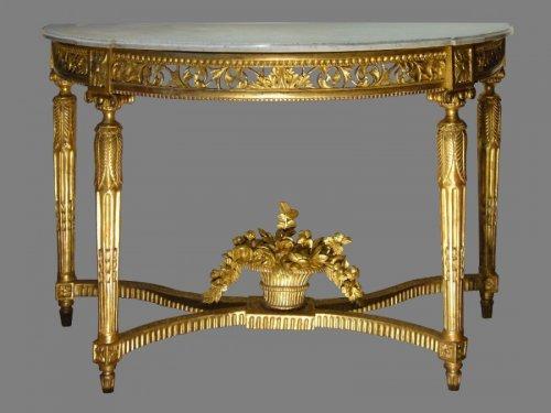 A fine Louis XVI Giltwood Console Table