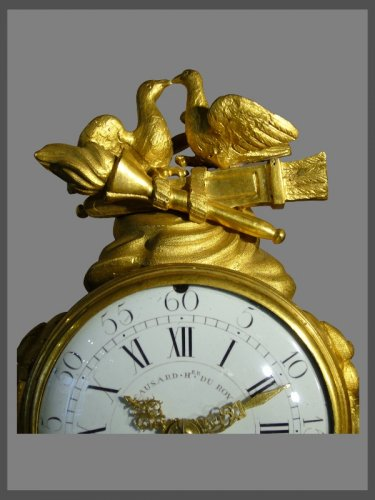 French Louis XVI period gilt-bronze and black marble mantel clock by Causard - Horology Style Louis XVI