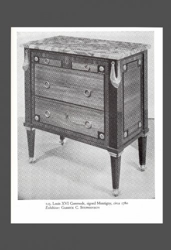 Furniture  - Louis XVI Period Commode, by MONTIGNY