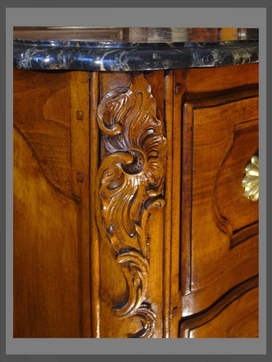 Commode d 39 poque louis xv au r couronn xviiie si cle for Miroir quadrilobe